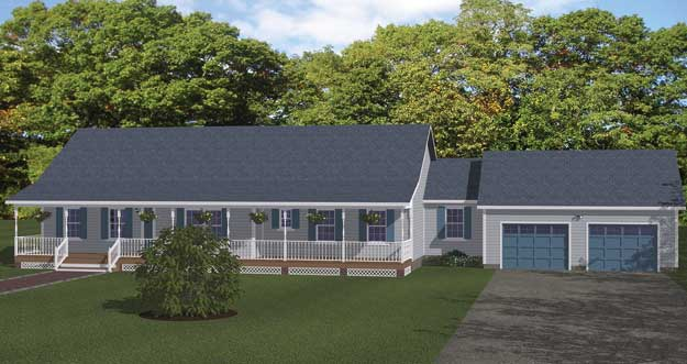 Free Blueprints - New Line Home Design: One Story Plans on