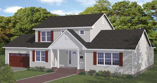 Free blueprints new line home design single family homes - Single family home designs ...