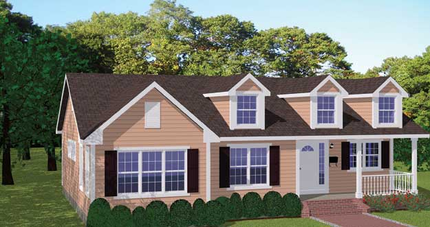 Charming Plan # 803   3 Bedroom, 2 Bath, 1540/Sqft Ranch