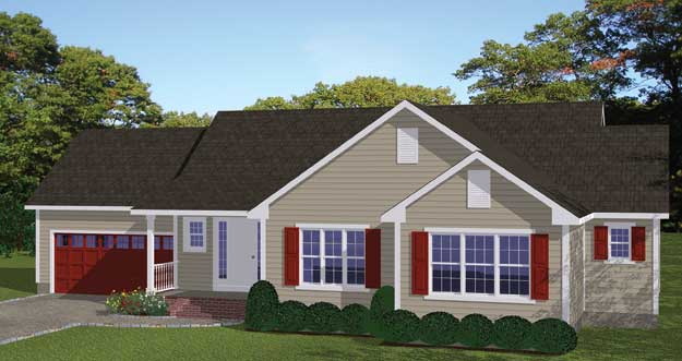 Free blueprints new line home design single family homes for Single family house plans
