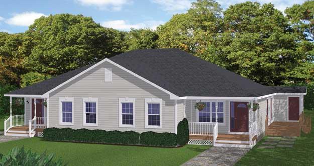 Free Blueprints - New Line Home Design: Multi-Family Homes