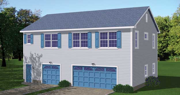 Free Blueprints - New Line Home Design: Garage / Apartments