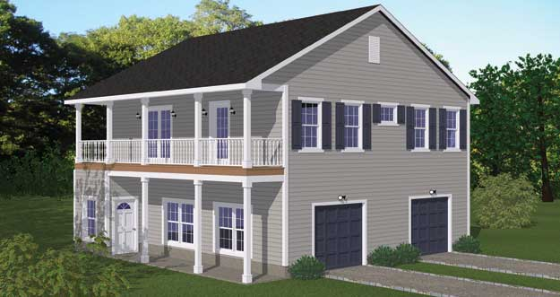 Free blueprints new line home design garage apartments for 2 bedroom 2 bath garage apartment plans