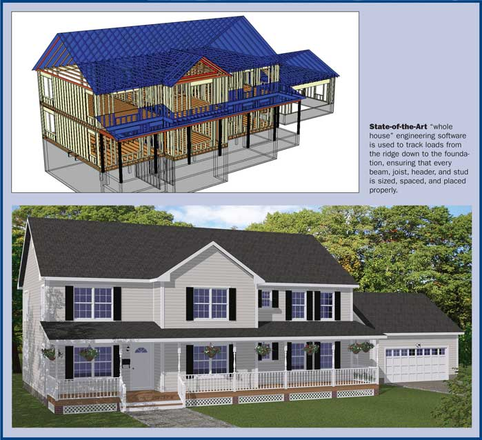 Free Blueprints - New Line Home Design: Builder'S Portfolio Collection
